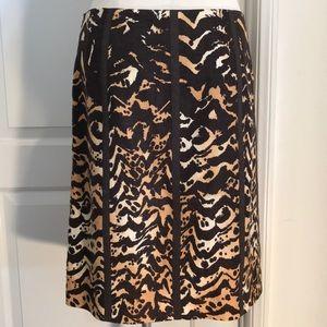 Worth / Linen Leopard Skirt